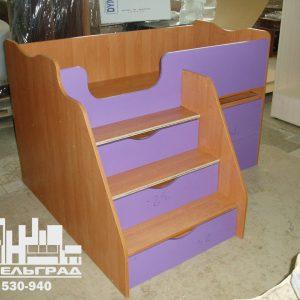 Мебель для детской комнаты: кровать с ящиками