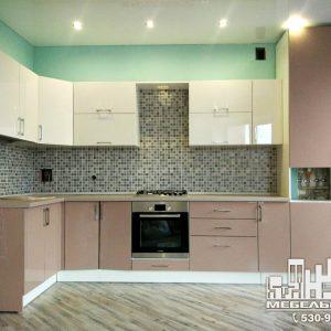Кухня капучино бежевая кухня
