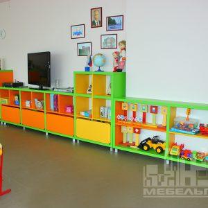 """Стеллажи для игрушек   в детском саду №23  """"Орленок"""" в пос. Орловка"""