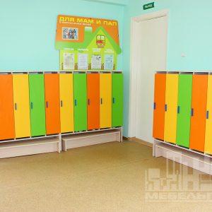 """Шкафчики для одежды  в детском саду №23  """"Орленок"""" в пос. Орловка"""