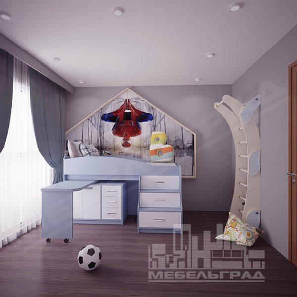 Детская кровать с выдвижным столом Детская мебель Калининград