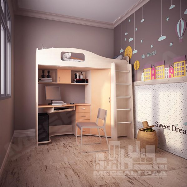 Кровать чердак Калининград Детская мебель Калининград