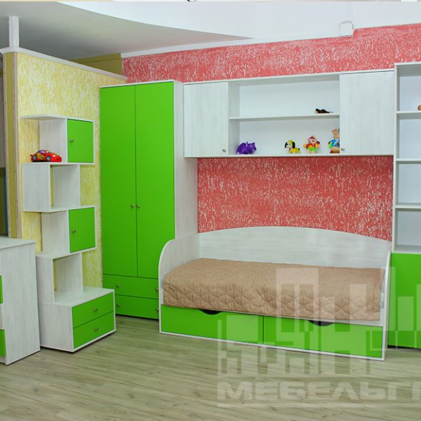 Салатовая детская мебель Калининград Детская мебель на заказ по вашим размерам Калининград