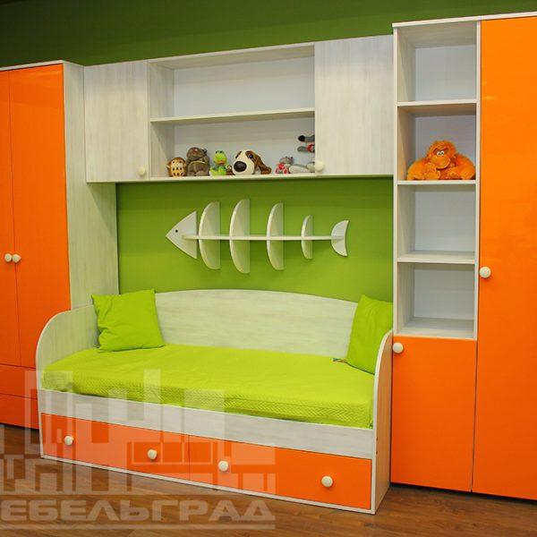 Оранжевая детская мебель Калининград Детская мебель на заказ по вашим размерам Калининград