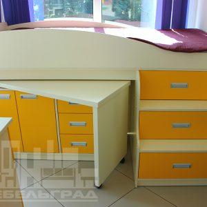 Желтая детская мебель Калининград Детские кровати с местом для хранения вещей
