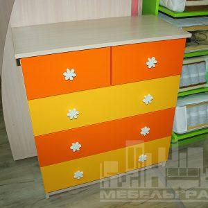 Комод Калининград Оранжевая с желтым детская мебель Калининград комод