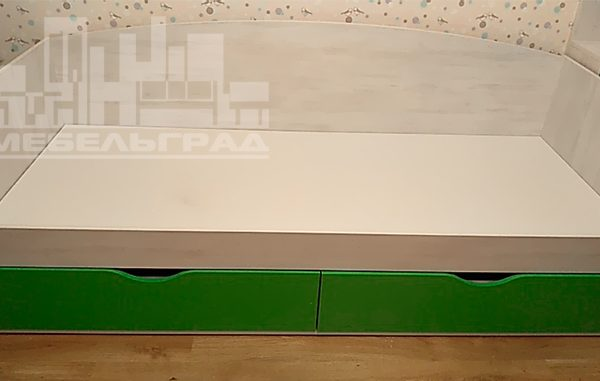 Зеленая детская мебель для мальчика Детская мебель на заказ в Калининграде