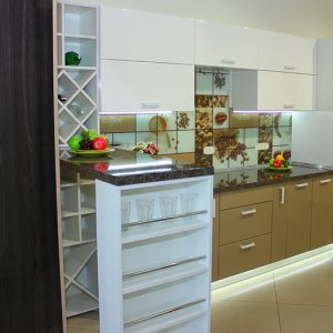 Кухня с фасадами МДФ краска