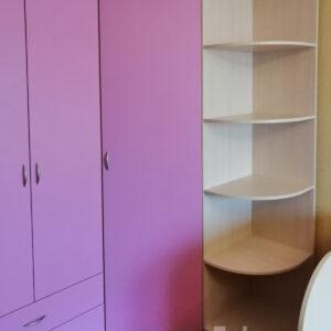 Сиреневая детская мебель Калининград Детский шкаф