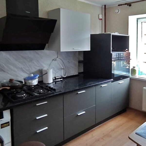 Кухня белая с серым Калининград кухни калининград купить кухню в калининграде кухни цена калининград кухни на заказ в калининграде фото кухонь калининград