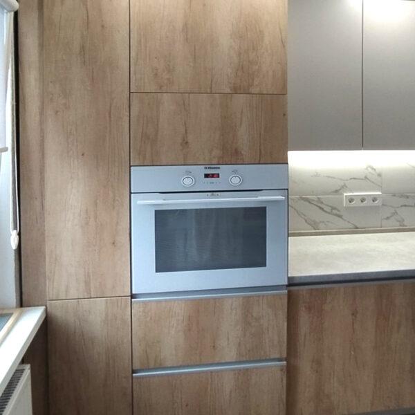 Кухня белая с деревом Калининград кухни калининград купить кухню в калининграде кухни цена калининград кухни на заказ в калининграде фото кухонь калининград