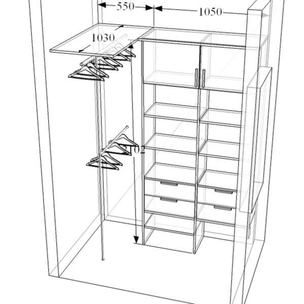 Маленькая гардеробная Гардеробные системы Калининград Гардеробные в Калининграде Шкафы Калининград