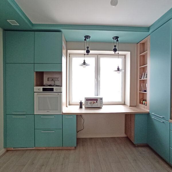 Кухня голубого цвета цена Кухни Калининград купить кухню в Калининграде