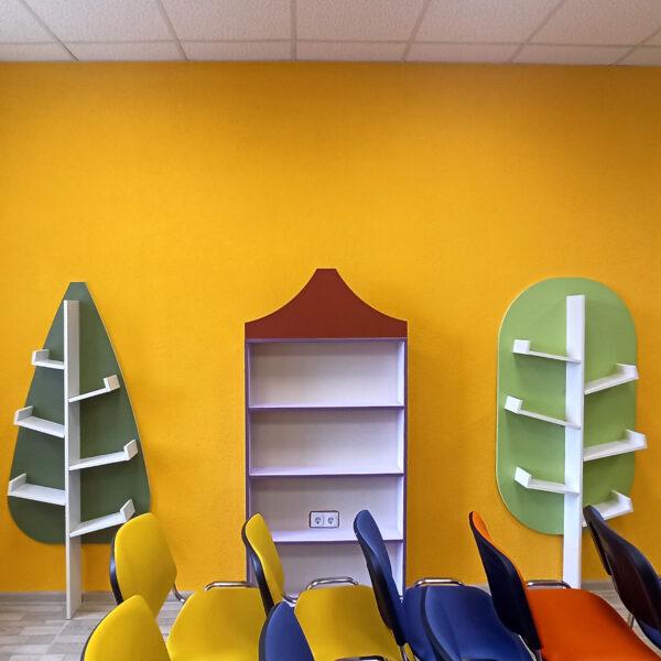 Детские стеллажи Калининград Стеллаж для библиотеки на заказ Калининград