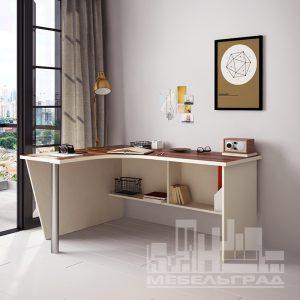 стол письменный компьютерный рабочий для ноутбука угловой белый