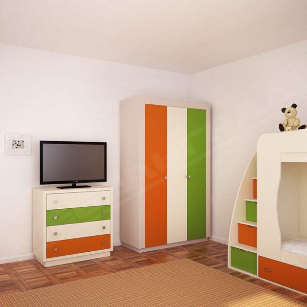 детская комната для двух детей мебель шкаф комод кровать
